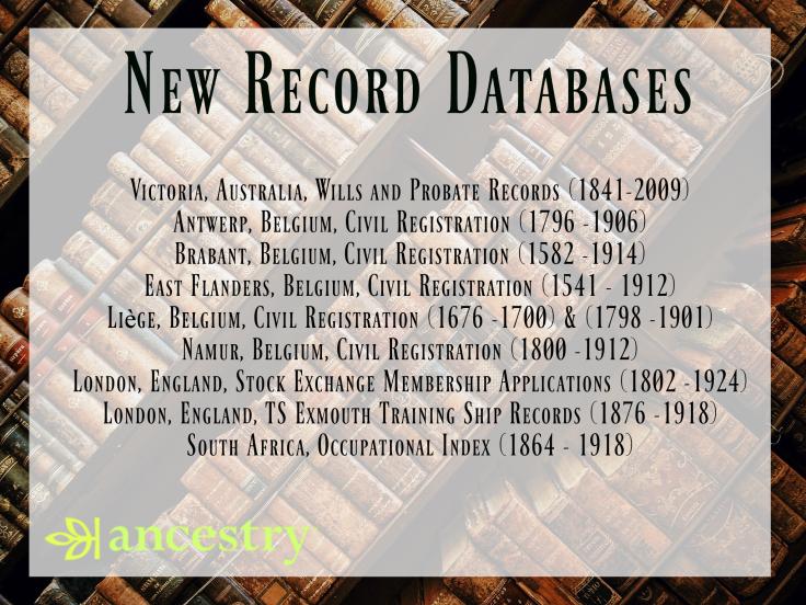 New Record Database - Jan. 10, 2017