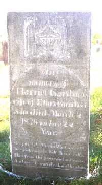 Gravestone of Harriet Snow Smith Gardner
