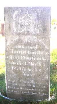 Gravestone of Harriet Snow Smith Gardner