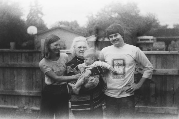 Karen Purvis, Grandmother Faye, Tristan Purvis, Mel Purvis.