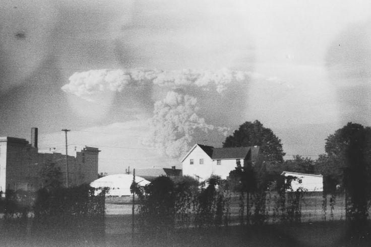 Mt. St. Helen's erupting