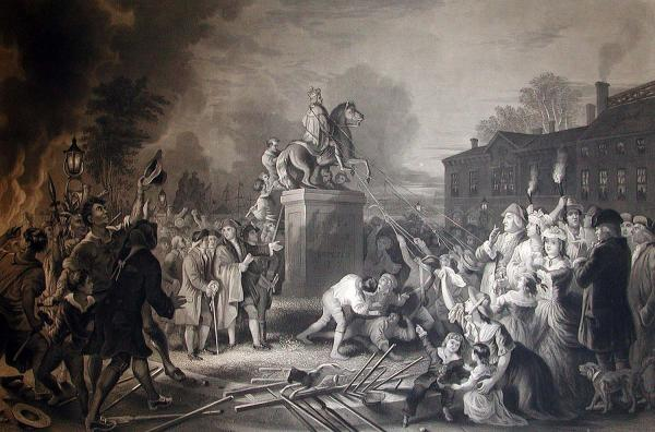 Pulling Down the Statue of George III, by John C. McRae