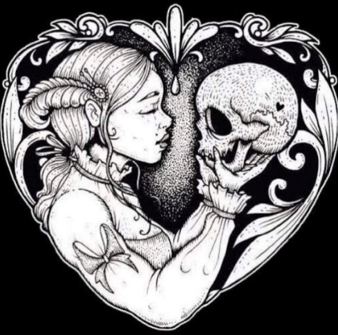 Death and the Maiden logo by Lozzy Bones Art