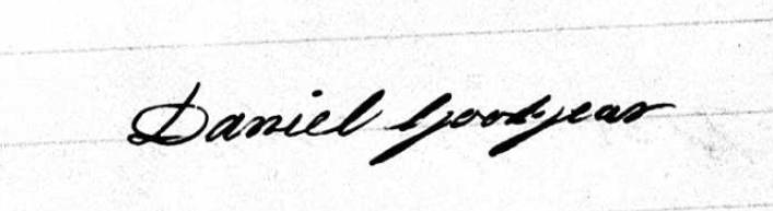 Daniel Goodyear's signature